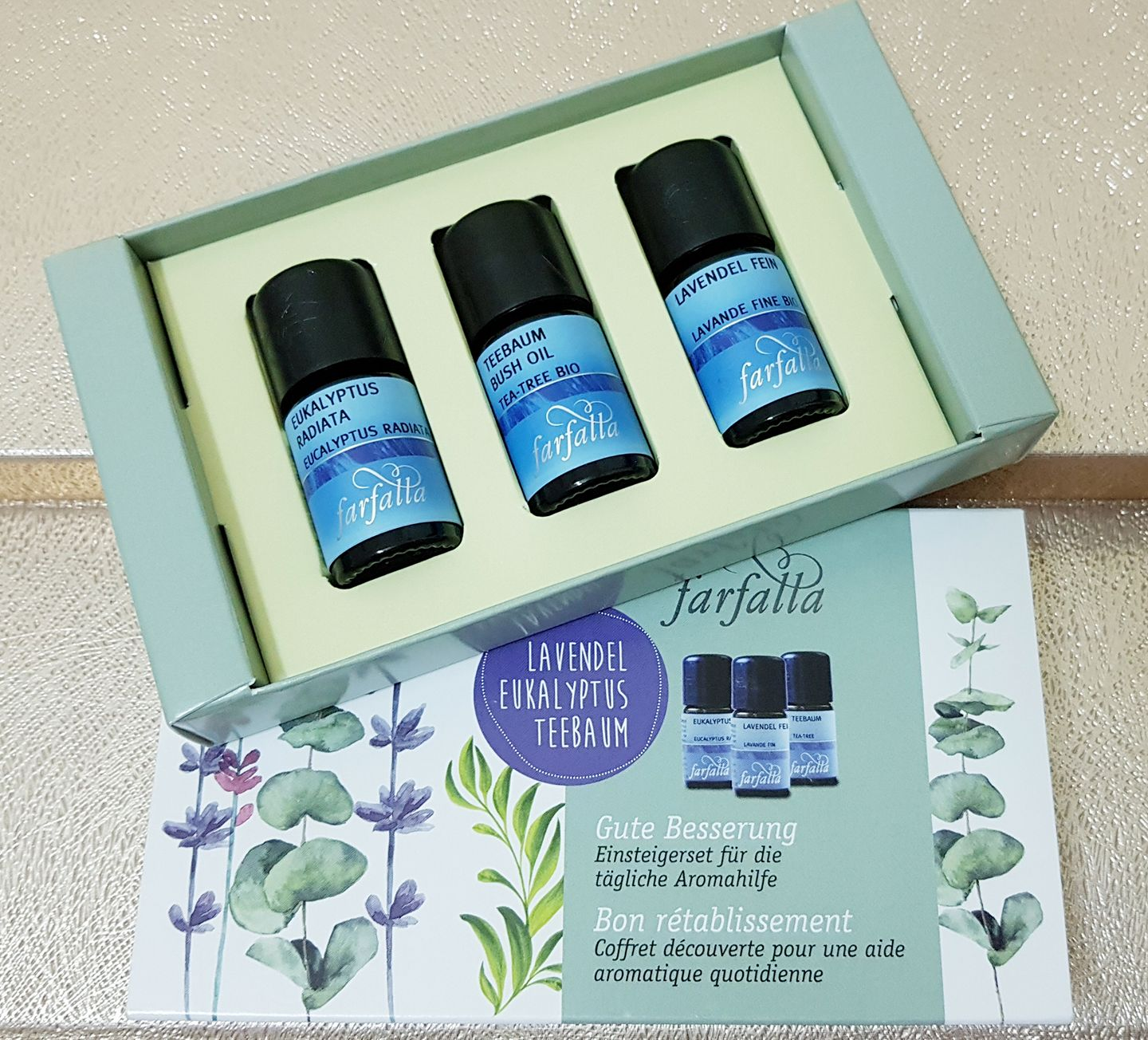 Set of 3 sample organic essential oils